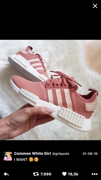 shoes adidas shoes pink adidas white light pink