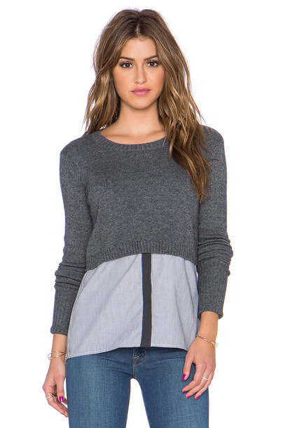 Bailey 44 Crosby Sweater in charcoal