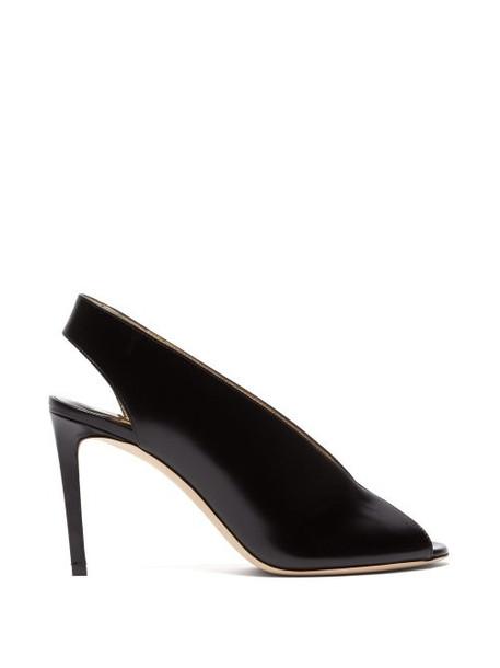 Jimmy Choo - Shar 85 Slingback Leather Sandals - Womens - Black