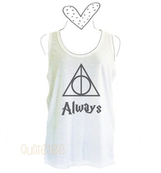 top triangle tank top harry potter tank top slogan tank top quote tank top racer back shirt tanks teen girl tank top