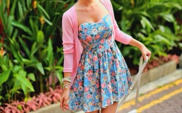 dress floral sweater