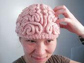 hat,beenie,pink,brain