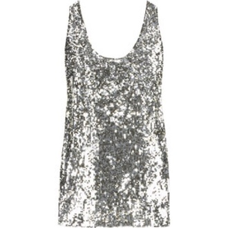 tank top sequined sequin shirt silver any color cute summer top fashion style