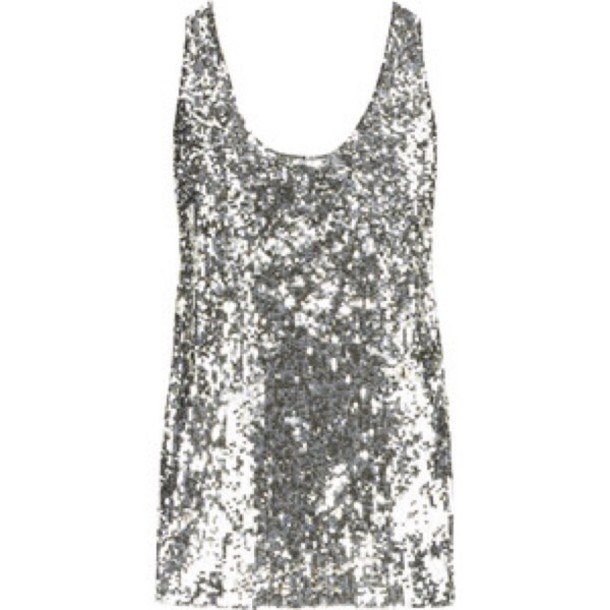 tank top sequins sequin shirt silver any color cute summer top fashion style