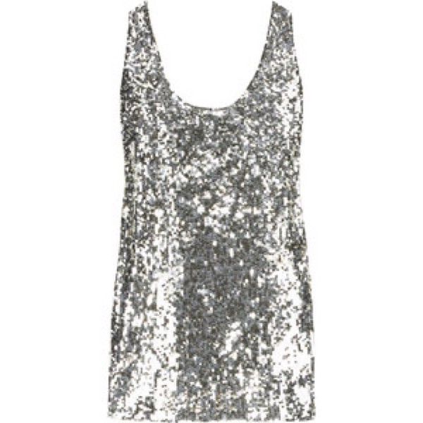 Tank top: sequins, sequin shirt, silver, any color, cute ...