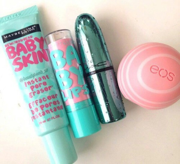 make-up baby lips baby skin blue beautiful natural makeup look face care mac cosmetics maybelline