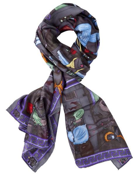 ADAM CRISTOBAL DE LAS PAMPAS scarf grey