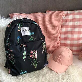 bag yeah bunny backpack floral back to school flowers school bag water-proof bag