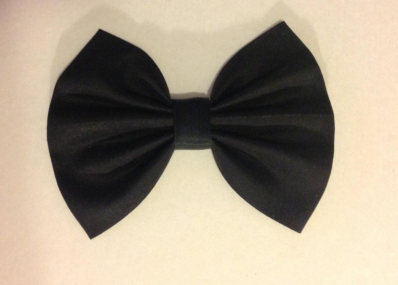 Black bow hair accessories - Black Hair Bow Black Bow Bow Hair Clip Big Bow Large Bow Hair Clips Fabric Bow Bows