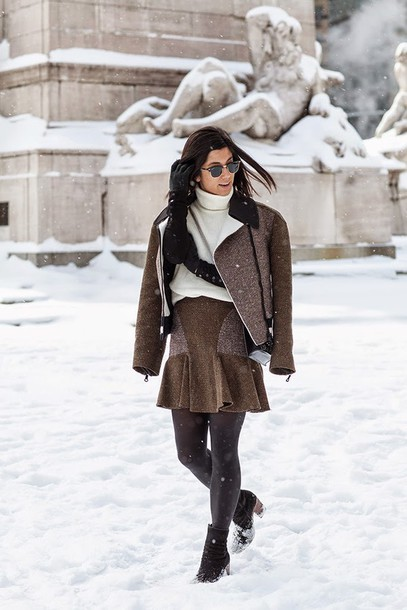 this time tomorrow blogger jacket skirt sweater shoes bag sunglasses