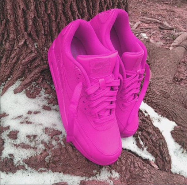 shoes nike hot pink. nike airmax 90 hyperfuse air max hot pink sneakers nike sneakers custom sneakers