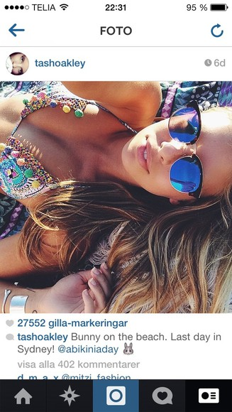 swimwear bikini sunglasses