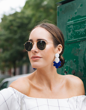 jewels,tumblr,jewelry,accessories,Accessory,accent earrings,sunglasses,rayban