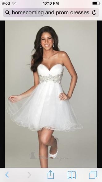 dress prom dress white sparkles