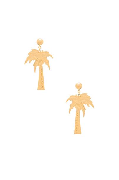Frasier Sterling beach earrings metallic gold jewels