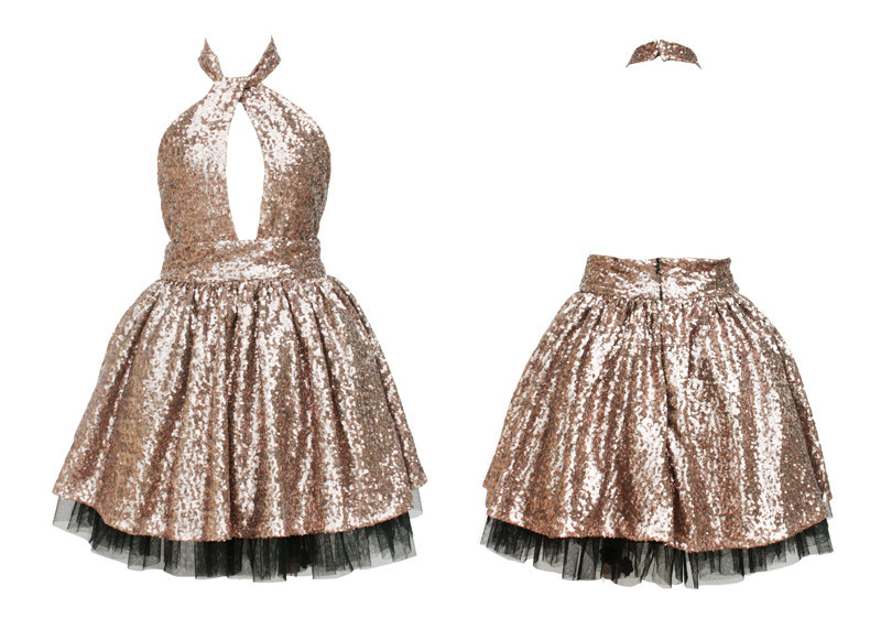 Sarani halter sequin dress
