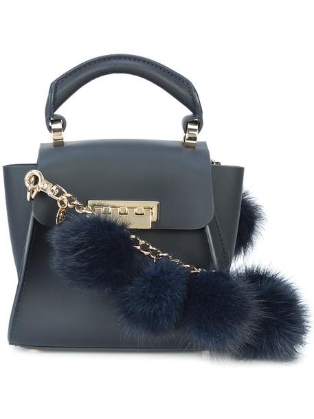 mini fur women leather bag