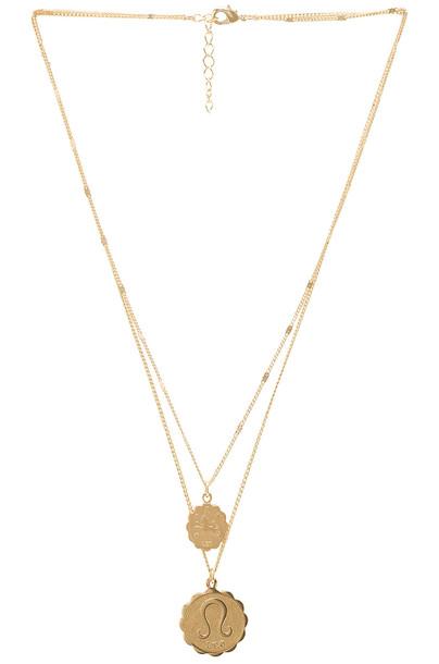 joolz by Martha Calvo Zodiac Necklace Set in gold / metallic