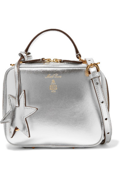 0783b5d6f70 Mark Cross - Laura Baby Metallic Textured-leather Shoulder Bag - Silver