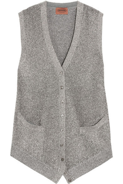 Missoni - Metallic Crochet-knit Vest - Silver