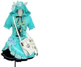 dress blue lolita turquoise