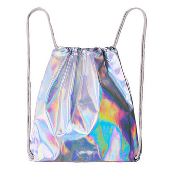 bag holographic drawstring backpack drawstring bag holographic bag hipster tumblr