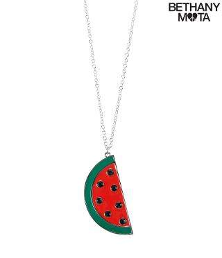 Watermelon Long-Strand Necklace -
