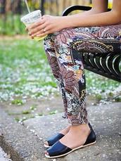 pants,summer pants,pattern pants,free people