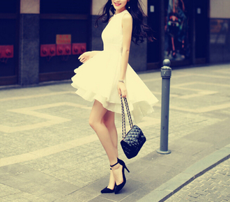 dress high low dress gorgeous white dress