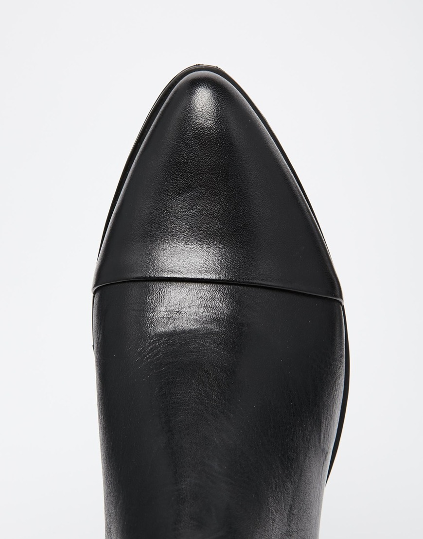 816175b64dc Vagabond Marja Black Leather Point Ankle Boots at asos.com