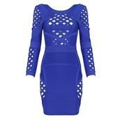 bandage dress,bodycon,blue dress,bandage