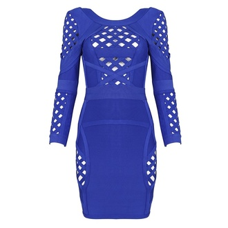 bandage dress bodycon blue dress bandage