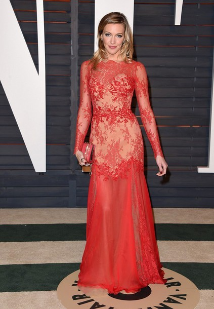 dress gown red dress red carpet dress oscars 2015 lace dress lace katie cassidy