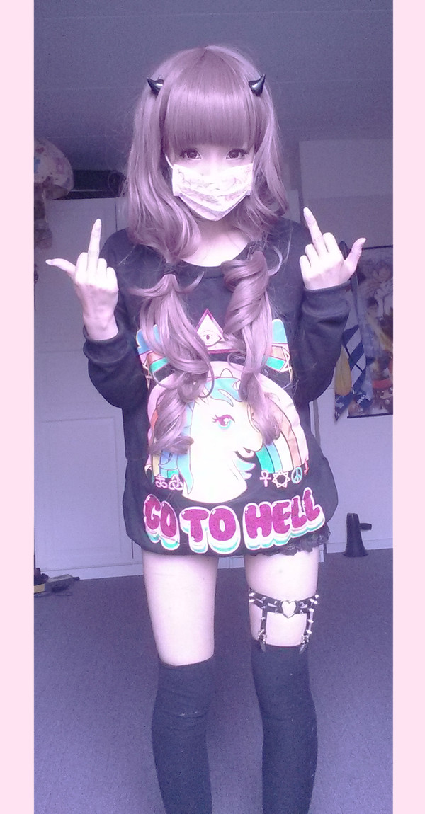unicorn go to hell kawaii sweater japan japanese asain kawaii sweater