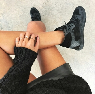 shoes cute shoes high top sneakers sneakers black shoes black jewels ring all black everything snakeskin casual dope dope wishlist swag sports shoes style stylish trendy cute tumblr cool girl blogger streetstyle streetwear edgy instagram skater on point clothing