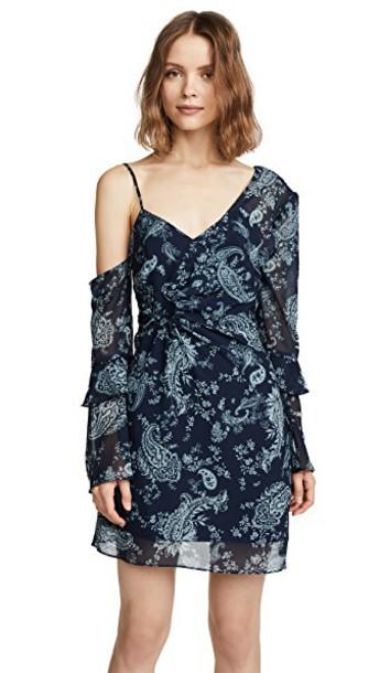 Keepsake dress mini dress mini navy paisley