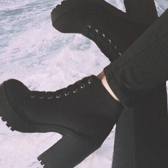 shoes black psychicbby psychobabez high heels dress tumblr outfit cute dress boots little black boots chelsea boots t-shirt shirt pants accessories black heels black dress platform shoes instagram