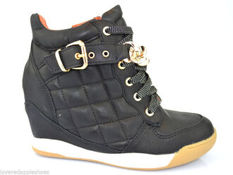 shoes wedges wedge trainers black wedges white wedges trainers gold hidden wedge lace up quilted boot hi tops