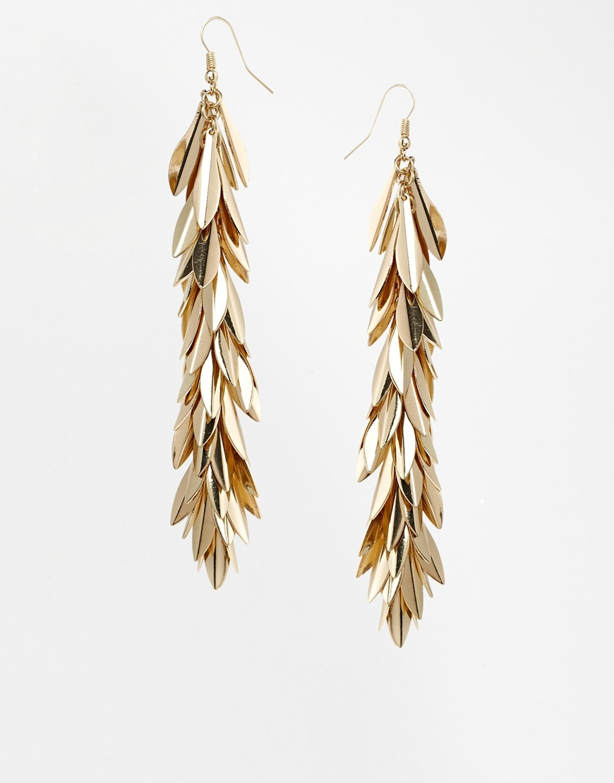 Kardashian Kollection Leaf Cascade Earring at asos.com