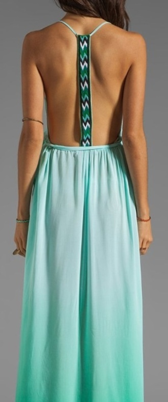 dress blue aqua jade mint blue dress low back racerback racer back dress mint dress summer summer dress fashion 2014 trendy hot new dress racer back pattern zig zag pattern