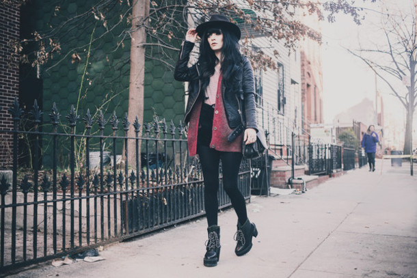 jag lever blogger hat cardigan shoes coat bag shirt