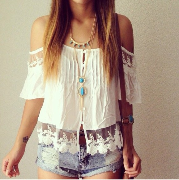 tank top white white tank top white tanktop denim shorts denim jewels necklace hippie boho shorts blouse White blouse embroidered tanktop. used jeans jewelry bracelets bracelets gold bracelets bracelets gold turquoise turquoise jewelry turquoise bracelets turquoise necklace hippie jewelry boho style,hippie style