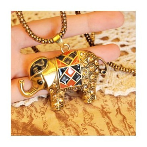 elephant jewels necklace