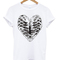 Rib cage heart graphic t-shirt - stylecotton