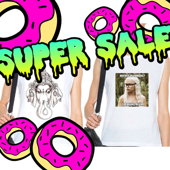 2 for 1 limited muscle tees daenerys and ganesh.  by leareys