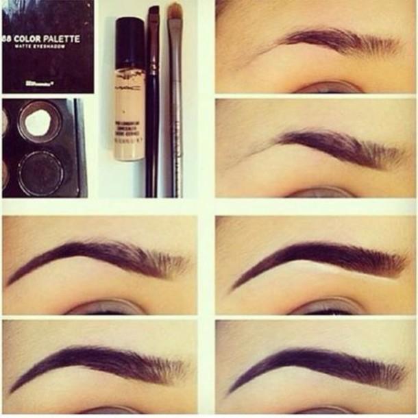 make-up eyebrows make-up palette