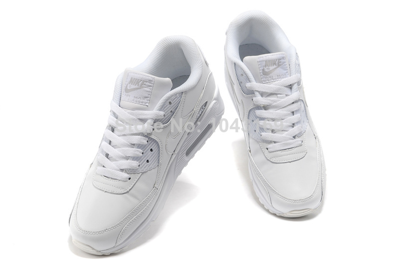 Wholesale All White Nike Air Max 90 Women s Running Shoes Sport ... b05e315e4