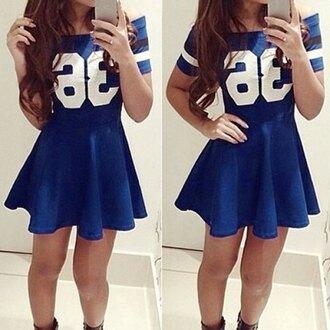 dress jersey dress blue dress skater dress
