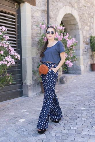 blaastyle blogger boho pants printed pants gucci bag orange bag