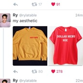 sweater,yellow,art hoe,mustard,shirt,yellow top,t-shirt
